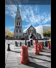 City of ChristChurch & Her Proud Standing Cathedral, South Island, New Zealand :: HDR photo by :: Artie | Photography :: Cya in Sept!