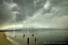 Good Harbor Bay ... storm front! photo by Ken Scott