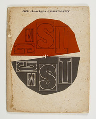 "Cover of ""Design Quarterly"" by Rob Roy Kelly, Walker Art Center. 1963 photo by Herb Lubalin Study Center"