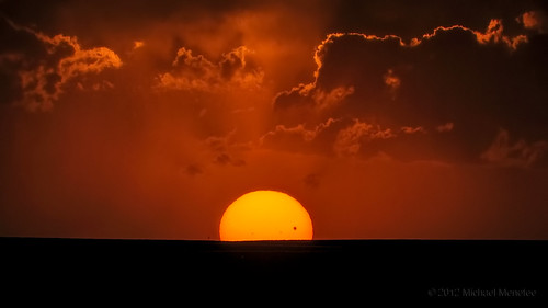 The Sun Sets on the 2012 Transit of Venus photo by Fort Photo