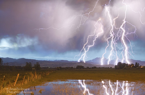 Longs Peak Surrounded By Lighting Bolt Strikes  4 photo by Striking Photography by Bo Insogna