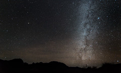 The Milky Way over the Chisos Mountains photo by E=mcSCOW