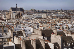 Rita Crane Photography:  View of Rooftops, Chimneys & Landmarks, The Marais, Paris photo by Rita Crane Photography