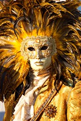 San Marco, Sun Mask at the Carnival of Venice, Venezia, Italy photo by Photos Girados