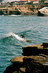 Surfer at Sunset Cliffs photo by !Martin