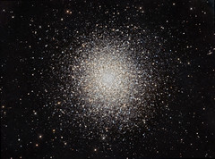"M13 The ""Great"" Globular Cluster in Hercules (CCD+DSLR Combo) photo by Terry Hancock www.downunderobservatory.com"