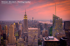 Red Skies over Midtown Manhattan photo by Tobias Neubert Photography