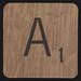 Scrabble Coaster Letter A