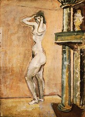 Rothko, Mark (1903-1970) - 1937-38 Untitled - Female Nude Standing by a Fireplace (National Gallery of Art, Washington DC) photo by RasMarley