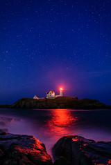 Night at Nubble Light photo by Mike Blanchette