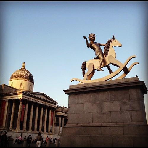 Ride little boy ride {Trafalgar Square, 4th plinth}