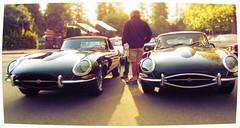 Twin E-Types photo by Mark Faviell Photos