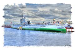 The Soviet Whiskey class submarine S-189. Советская подводная лодка проекта 613 С-189. photo by Peer.Gynt