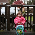 Amy ready for her first day of play school<br/>19 Apr 2012
