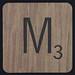 Scrabble Coaster Letter M
