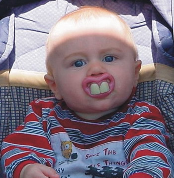 Funny Baby with Big Teeth