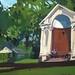 Folly in Hyde Park, Gouache on board, 28x40cm