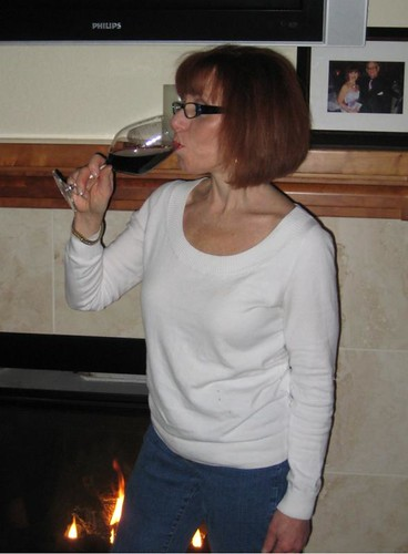 SurvivalWoman drinks red wine