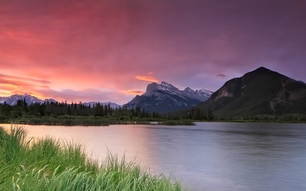Sunrise at  Mount Rundle photo by Ania.Photography - off