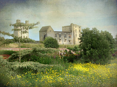 Helmsley Castle photo by Jean Turner Cain Away for two weeks!