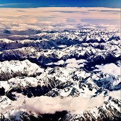 Snowy Peaks - South Island, New Zealand. photo by Matthew Post