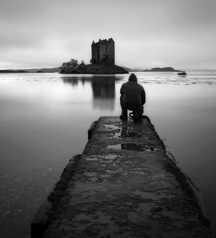 CASTLE STALKER(B/W) photo by kenny barker