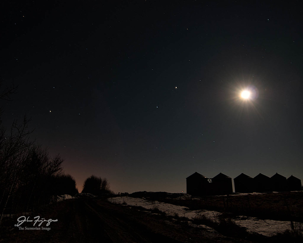 Moon Mars And Saturn