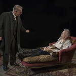 Philip Earl Johnson (Kurt) and Larry Yando (Edgar) in THE DANCE OF DEATH at Writers Theatre