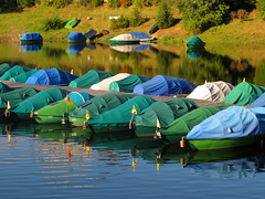 Fishing Boats resting at Schluchsee photo by Batikart