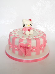 Pink Stripey Hello Kitty Birthday Cake photo by madebymariegreen