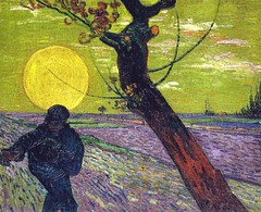 Vincent van Gogh - The Sower, 1888 (Buehrle Collection Zurich Switzerland) Van Gogh: Up Close at Philadelphia Museum of Art photo by mbell1975