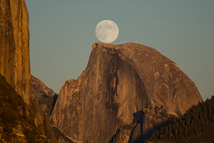 Moon Rise Behind Half Dome photo by Jeffrey Sullivan