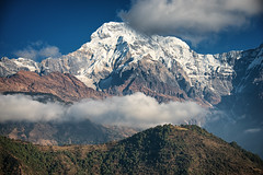 Clouds over the mountain, Annapurna, Nepal photo by CamelKW