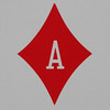 Round Playing Card Ace of Diamonds