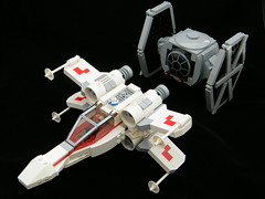 Chibi X-Wing and TIE Fighter photo by DarthNick