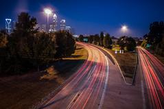 Charlotte City Skyline night scene photo by DigiDreamGrafix.com