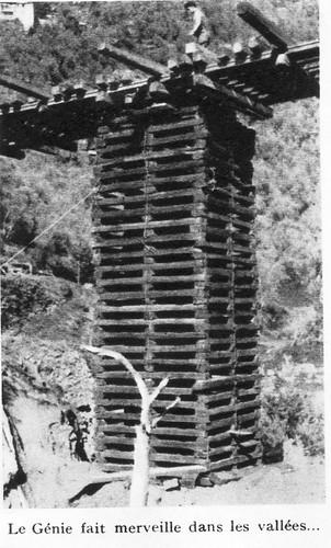 Génie- Authion 1945 printemps -  le genie fait merveille dans les vallées