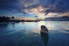 Dusk in Mabul photo by Tuah Roslan