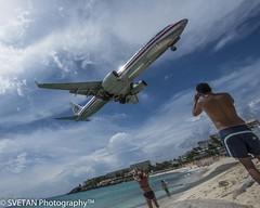 AA IS LANDING @ SXM photo by RUSSIANTEXAN ©