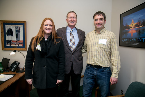 Rep. Holy with Chad Dashiell and Desiree Sweeney from CHAS
