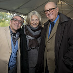 Artistic Director Michael Halberstam with On to a New Stage Campaign Co-Chairs Gillian and Ellis Goodman. Photo by Robert Carl.