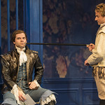 Nate Burger (Dorante) and Samuel Ashdown (Philiste) in THE LIAR at Writers Theatre. Photo by Michael Brosilow.