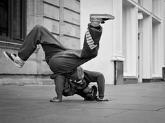 Rudy In A Twist (B&W Version) photo by Leanne Boulton