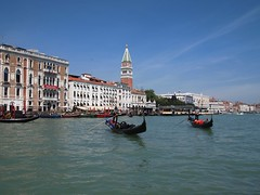 Gondolas in Venice - Gondole a Venezia photo by SissiPrincess