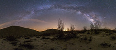 Panorama of the Milky Way above Canyon Sin Nombre in Anza-Borrego Desert State Park photo by slworking2