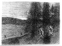 Illustration - Histoire d'une évasion par Marcel Barbary
