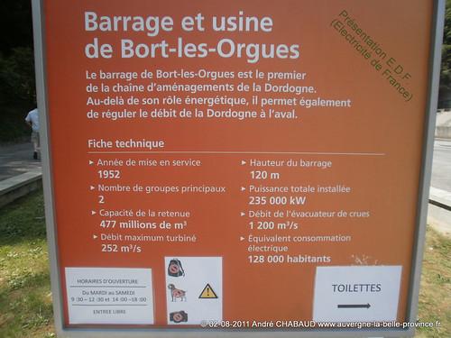 Barrage de Bort les Orgues (19 et 15)-Présentation E.D.F.