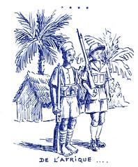 Illustration- De l'Afrique aux Vosges - 1-  par Jean COQUIL (capitaine au B.M.5)