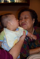 Laow Mah giving me a kiss