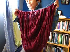 icarus shawl, in poofy drawer mode